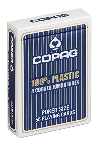 Copag 22564059 - Plastik Poker - Jumbo Face, blau