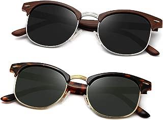 Polarized Sunglasses Semi Rimless Frame Retro Brand Sun Glasses AE0369