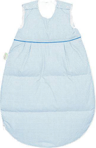 Set Odenwälder Daunen-Schlafsack mit Stoffwindel von Kinderhaus Blaubär/Winter Baby-Schlafsack mit Premiumdaunen längenverstellbar, Größe:90, Design:Square hellblau