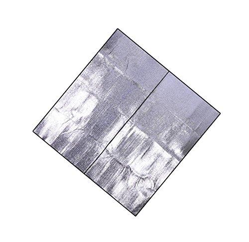 film d'aluminium double face aluminium extérieure pad pad tente feuille de camping couchage mat pad de pique-nique résistant à l'humidité