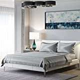 Mulberry Park Silks - King Silk Sheet Set (15' Pocket) - Silver - 22 Momme 100% Pure Mulberry Charmeuse Natural Bedding - Oeko-TEX Certified - Seamless