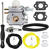 HPENP 753-06190 Carburetor w Carb Adjustment Tool air Filter for Troy-Bilt TB80EC TB32EC YM21CS TB21EC TB22EC 2 Cycle String Trimmer Gas Craftsman Weed Eater Whacker 27CC Replacement for # WT-973 MTD