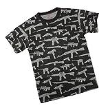Rothco Multi Print Guns T-Shirt, Black, 3X