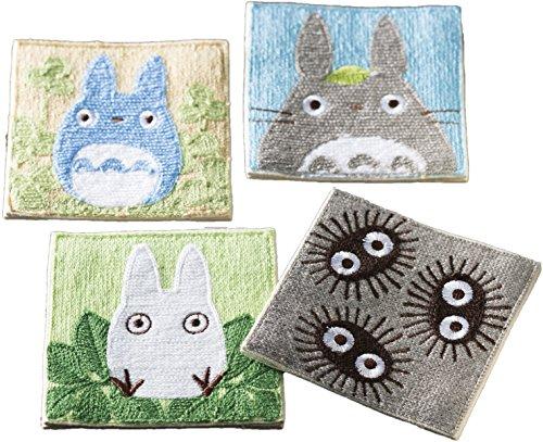 Marushin Studio Ghibli Untersetzer für Getränke, Set mit 4 Getränke-Untersetzern, bestickt, gewebtes Material, 10 cm Mein Nachbar Totoro Faces 1165015300