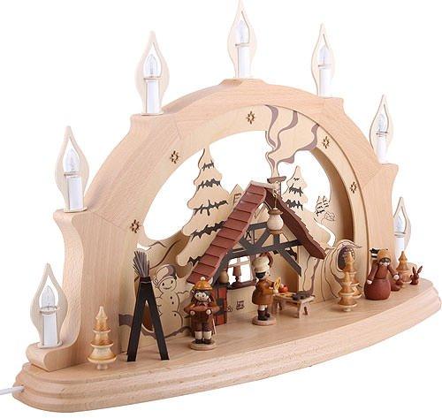 Zeidler Holzkunst Schwibbogen Weihnachtsstube - 57x38x15cm - Original Erzgebirge Schwibbögen