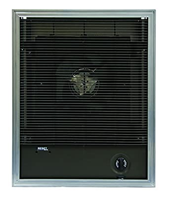 TPI F3422T Series 3420 Heavy-Duty Fan Forced Wall Heater, 9.6 Amps, 2000W