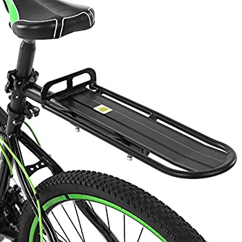 Lixada Rear Bike Rack Bicycle Cargo Rack Retractable Aluminum Alloy Bike Mount Cycle Bicycle Rear Seat Post Rack