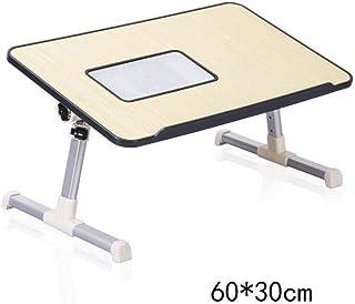 Dongy Mesas de Ordenador portátil mesas Plegables Escritorio Hogar compartida de Aprendizaje con el radiador en Color, Negro