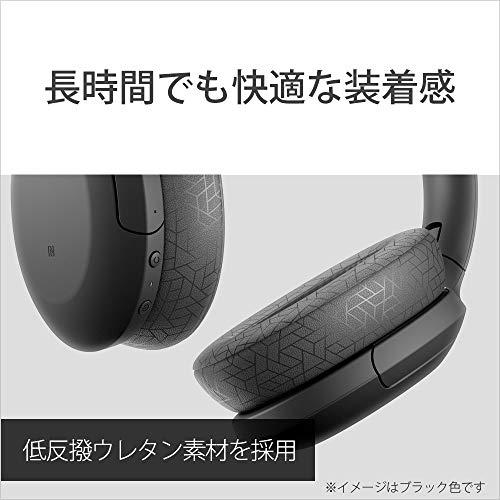 ソニーワイヤレスノイズキャンセリングヘッドホンWH-H910N:ハイレゾ対応/AmazonAlexa搭載/bluetooth/最大35時間連続再生/ハイレゾ相当アップスケーリング対応小型・軽量タッチセンサー搭載キャリングポーチ付属2019年モデル/マイク付き/360RealityAudio認定モデルブラックWH-H910NBM