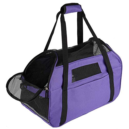 General Packaging LARGE Pet Carrier Bag AVC Portable Soft Fabric Folding Dog Cat Puppy Travel (Purple)