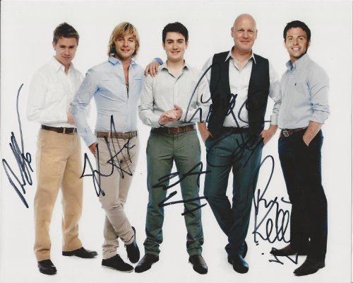 Celtic Thunder reprint signed photo by all 5 Voyage RP