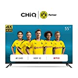 CHiQ U55H7L UHD 4K Smart TV, 55 Pouces (139cm), HDR 10/HLG, WiFi, Bluetooth, Youtube, Video,Netflix 5,1, Youtube, Triple Tuner
