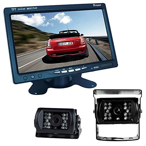 Buyee® Car Kit Rückansicht Rückfahrkamera Nachtsicht 2 * 18 IR LED Farbe Rückfahrkamera Rückfahrsystem KFZ+7 inch TFT LCD Monitor