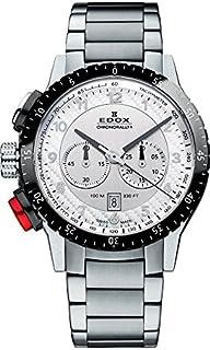 EDOX - Reloj Analógico para Unisex de Cuarzo con Correa en Acero Inoxidable 10305 3NRM AN