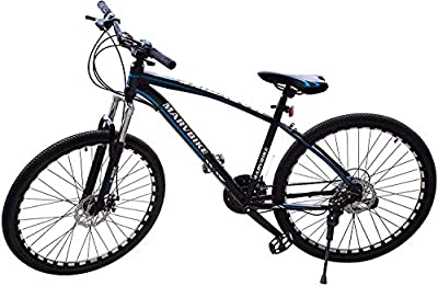 DOMDIL Marvbike 24 Speed Mens Mountain Bike 24 Inches Wheels Bicycle Front Suspension MTB, Blue