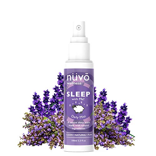 NUVO WELLNESS Premium Pillow Spray Made with Therapeutic Essential Oils - Deep Sleep Pillow Spray Mist with Lavender and Chamomile - Natural Sleep Aid - Sleep Spray for Pillows - 3.3oz Travel Size…