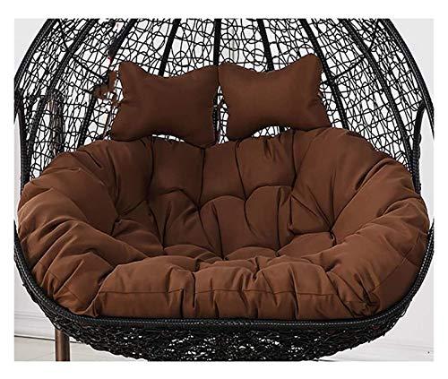 Hanging Papasan Cushion Egg Chair Cushion, Waterproof Double Papasan Chair Cushion with Pillow, Large Thicken Hanging Egg Hammock Chair Cushion Patio Swing Chair Cushion ,For Home Bedroom Garden