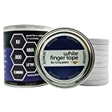 White Finger Tape (8 Pack) with Case for BJJ, Grappling, Judo, Climbing, Weight