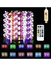 Led Fairy Lights, Maxuni USB Powered 33ft/10M 100LED String Light met afstandsbediening en timer, 48 kleuren veranderende modi touw lichten voor Kerstmis en Nieuwjaar Patio Tuin Slaapkamer Decoratie