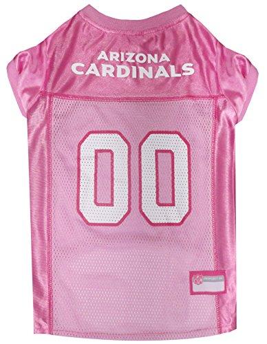 NFL Arizona Cardinals Dog Jersey Pink, Large. – Football Pet Jersey In Pink