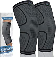 MODVEL 2 Pack Knee Compression Sleeve   Knee Brace for Men & Women   Knee Support for Running, Basketball, Weightlifting, Gym, Workout, Sports