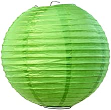 Koyal Wholesale Paper Lantern, 14-Inch, Kiwi Green, Set of 12
