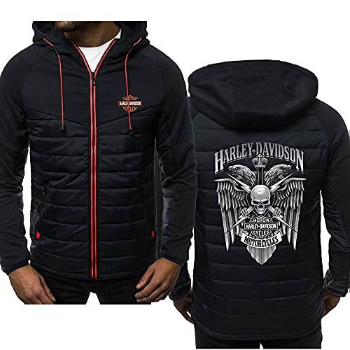 KJGLXD Sudadera con Capucha para Hombre Suéter Conjunto de Abrigo Impresión Harley Davidson Manga Larga Chaqueta Adecuado para Primavera otoño Invierno