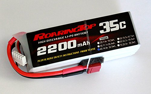 RoaringTop LiPo Battery Pack 35C 2200mAh 4S 14.8V with Deans Plug for RC Car Boat Truck Heli Airplane