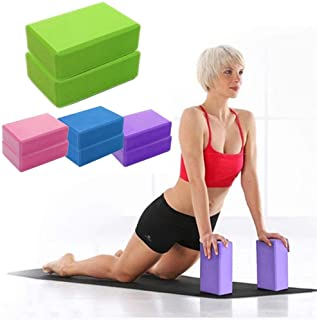 CWM Yoga Block 1-2 Pack and High Density EVA Foam Yoga Brick to Support and Deepen Poses