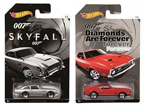 Hot Wheels James Bond 007 - Diamonds Are Forever 1971 Mustang Mach 1 & Skyfall Aston Martin 1963 DB5 by Hot Wheels