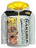 Disney Lion King Toddler Boys Fleece Half-Zip Pullover Hoodie, Heather Grey 3T