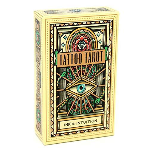 DUXIUYING Tattoo Tarot Karten Tarot, für Erwachsene, Familienspiele-freundliche Partyspiele