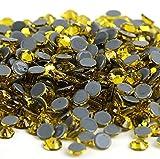 ss3, ss4, ss8, ss12, ss34 Hot fix Rhinestone Glitter Strass Cristal Piedras de cristal Hierro en diamantes de imitación para Garment-Citrine, ss5 1440pcs