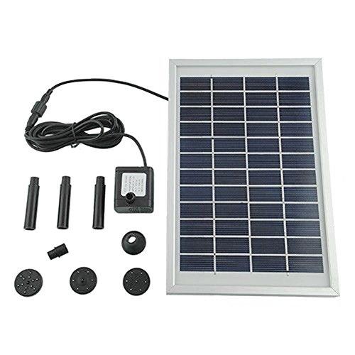 MVPower Wasserpumpe Solarpumpe Solar Teichpumpe Solarteichpumpe Gartenpumpe für Gartenteich oder Springbrunnen 5W 500L/H