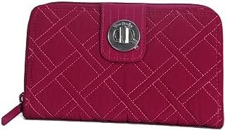 Vera Bradley RFID Turnlock Women's Wallet, Passion Pink, 21952