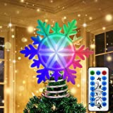 OurWarm Christmas Tree Topper Lighted Snowflake Tree Topper with...