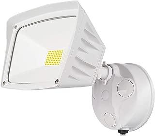JJC Security Lights Outdoor Flood Light LED Dusk to Dawn Photocell Sensor Waterproof 28W(250W Equiv.)5000K-Daylight 3400LM DLC Certified&ETL-Listed White