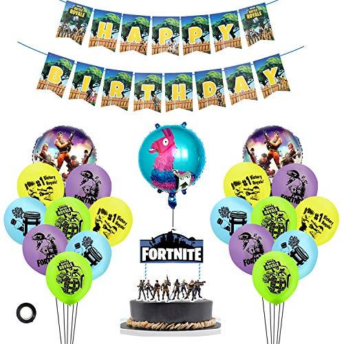 MIFIRE Video Gaming Spiel Partyzubehör Set Geburtstagsfeier Partydekor für Spielliebhaber, Junge Kinder Geburtstag Dekoration