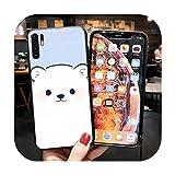Cute Bear Luxury Soft Phone Case Coque pour Huawei Y6 Y6 Prime Y7 Prime Y9 Y9 Prime Y6P Y7A Y9A...