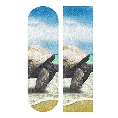MNSRUU Animal Schildkröte Skateboard Griptape Blatt Scooter Deck Sandpapier 22,9 x 83,8 cm