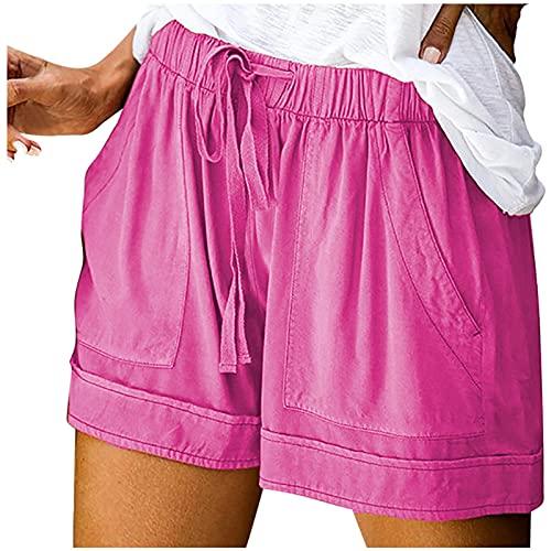 WINTOM Yoga Hosen Frauen Weiß Kurze Hosen Teenager MäDchen Laufshorts Baumwolle Sommershorts Kurze Hosen Damen Sommer Jeans
