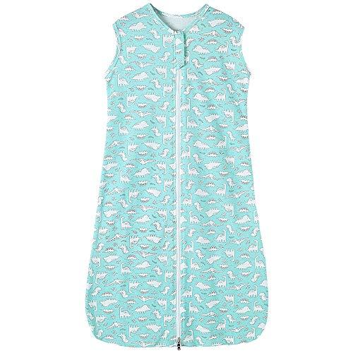 Babyschlafsack Sommerschlafsack Baby mädchen Junge Frühling Schlafanzug neugeboren Schlafsack Sommer Blau Dinosaurier - 0.5 tog (90CM/6-18 Monate, Blau Dinosaurier)
