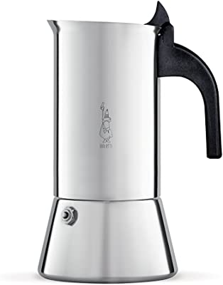 Bialetti Elegance Venus Induction 10 Cup Stainless Steel Espresso Maker