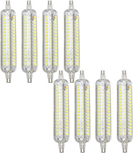 EMGQ Bombilla de ahorro de energía R7S LED 118 mm Bombilla regulable 15W 1500 Lumens Lámpara de planta de luz de inundación J Tipo Bulbo LED en lugar de 150W Tungsten Lámpara Halógena Blanco frío, 8 P
