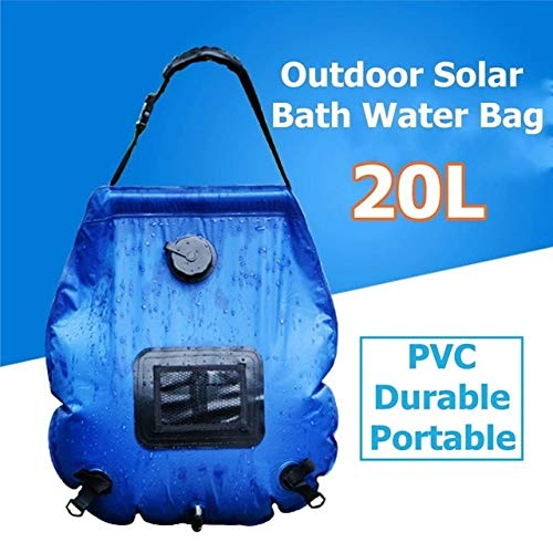 Best Buy! No-branded 20L Portable Shower Folding Outdoor Camping Heating Tube Bag Solar Water Bag Bl...