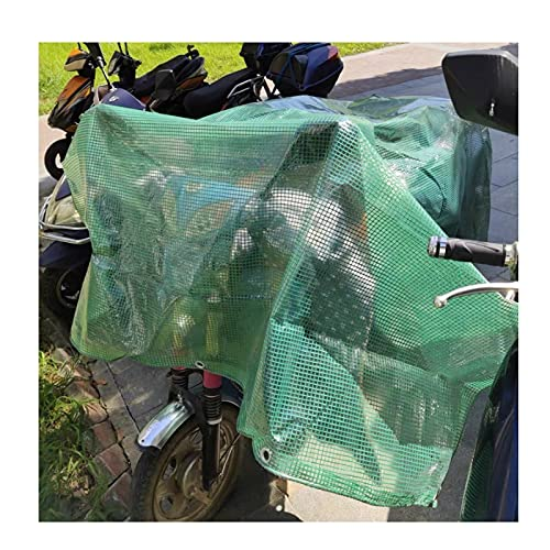 LJIANW-Telo Impermeabile Esterno, Impermeabile Trasparente Telone Robusto Griglia Copertura Trasparente Telo Foglio con Occhielli Copertura per Mobili per Moto Auto Divano Antipioggia
