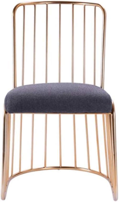 Solide Simple Chaise Bureau étudiant et Chaise de Maquillage Tabouret Retour à la Maison à Manger Chaise d'ordinateur Stable (Color : Gray) Gray