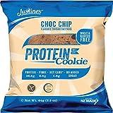 Justine's low carb Cookie mit Schokoladenstückchen | Kohlenhydratarm 2g | Proteinreich | Ohne Zuckerzusatz | Glutenfrei | Ohne Weizen | 6 x 64g -