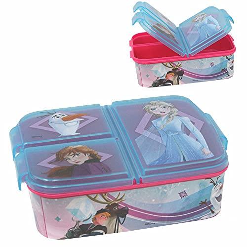 Stor Elsa lunchbox | 3 gescheiden vakken | Disney Frozen II | Lunch to Go Vesper doos