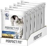 Perfect Fit Indoor 1+ – Trockenfutter für erwachsene Hauskatzen ab 1 Jahr – Reich an Huhn – Unterstützt die Vitalität – 6 x 750 g